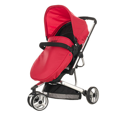 CHASE PRAMETTE 3 WHEELER - BLACK/RED (FREE CAR SEAT)