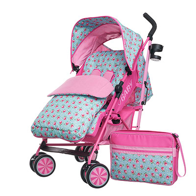 ZEAL STROLLER BUNDLE - COTTAGE ROSE