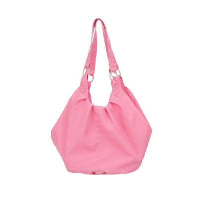 OBABY POMPOM CHANGING BAG - PINK