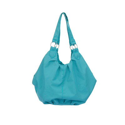 OBABY POMPOM CHANGING BAG - TURQUOISE