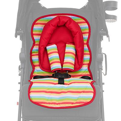 Obaby Universal Seat Liner Set - Red Hoop