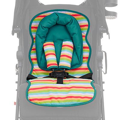 Obaby Universal Seat Liner Set - Turquoise Hoop