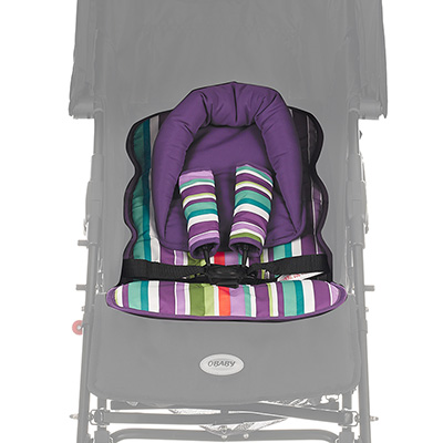 Obaby Universal Seat Liner Set - Purple Stripe