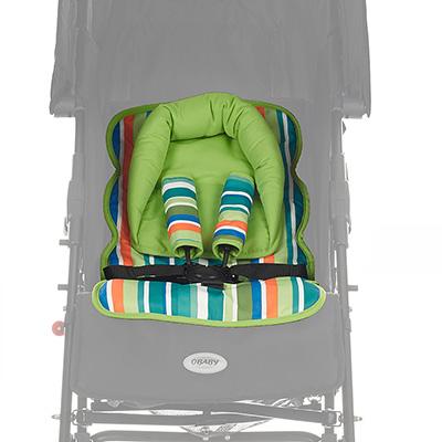 Obaby Universal Seat Liner Set - Lime Stripe