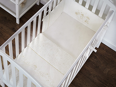 HELLO LITTLE ONE QUILT & BUMPER 2 PC SET - CREAM