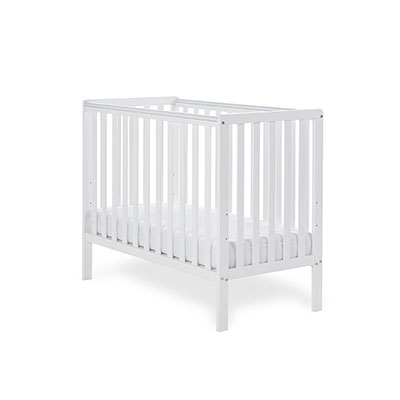 BANTAM SPACE SAVER COT & FOAM MATTRESS - WHITE