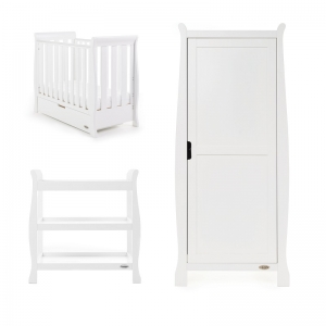 STAMFORD SPACE SAVER COT 3 PIECE ROOM SET - WHITE
