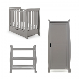 STAMFORD SPACE SAVER COT 3 PIECE ROOM SET - TAUPE GREY