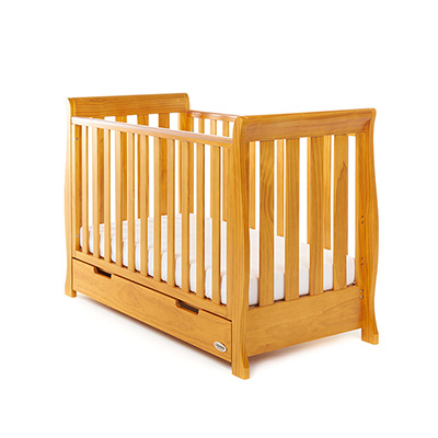 STAMFORD MINI SLEIGH COT BED - COUNTRY PINE