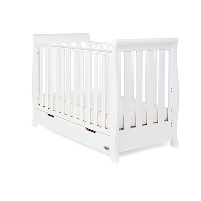 STAMFORD MINI SLEIGH COT BED - WHITE