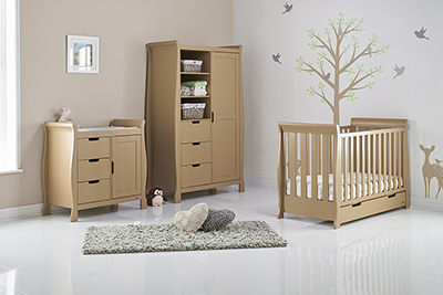 STAMFORD MINI COT BED 3 PIECE ROOM SET - ICED COFFEE