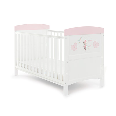 DISNEY INSPIRE MINNIE MOUSE COT BED - HEARTS (FREE FOAM MATTRESS)