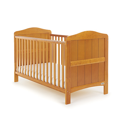 OBABY WHITBY COT BED - COUNTRY PINE (FREE SPRUNG MATTRESS)