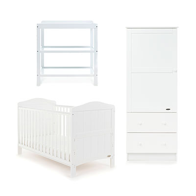 WHITBY 3 PIECE ROOM SET - WHITE