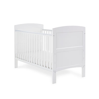 GRACE COT BED - WHITE (FREE FOAM MATTRESS)