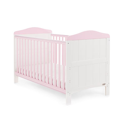 WHITBY COT BED - WHITE with ETON MESS
