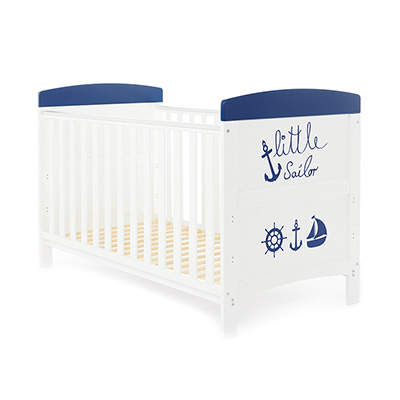 GRACE INSPIRE COT BED - LITTLE SAILOR (FREE FOAM MATTRESS)