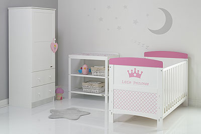 GRACE INSPIRE 3 PIECE ROOM SET & CHANGING MAT - LITTLE PRINCESS