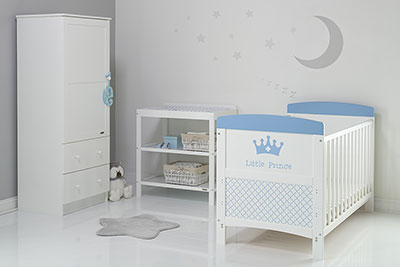GRACE INSPIRE 3 PIECE ROOM SET & CHANGING MAT - LITTLE PRINCE