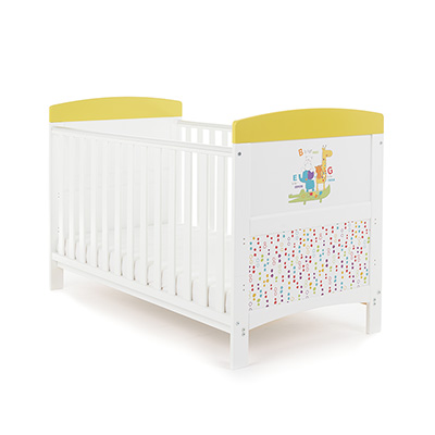 GRACE INSPIRE COT BED - B IS FOR BEAR HAPPY SAFARI (FREE FOAM MATTRESS)