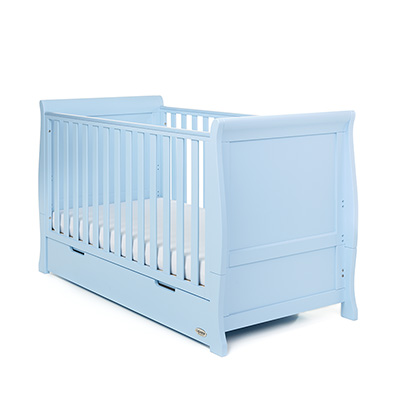 STAMFORD CLASSIC SLEIGH COT BED - BONBON BLUE