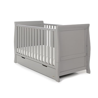 STAMFORD CLASSIC SLEIGH COT BED - WARM GREY (FREE POCKET SPRUNG)