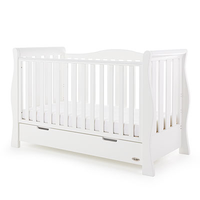 STAMFORD LUXE SLEIGH COT BED - WHITE
