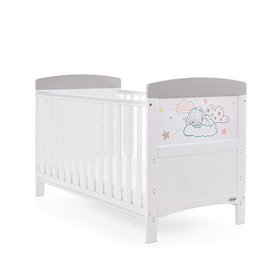 TINY TATTY TEDDY COT BED - GREY