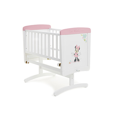 DISNEY MINNIE MOUSE GLIDING CRIB - LOVE MINNIE