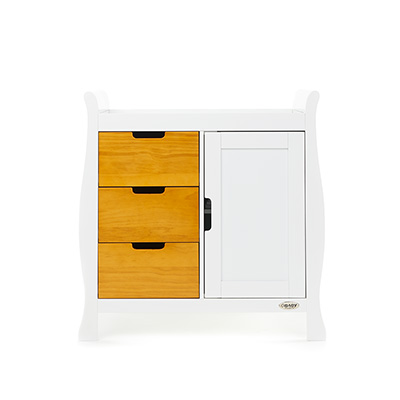 STAMFORD CHANGING UNIT - WHITE with COUNTRY PINE
