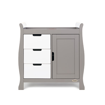 STAMFORD CHANGING UNIT - TAUPE GREY with WHITE