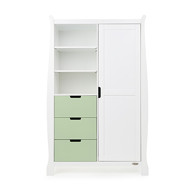 STAMFORD DOUBLE WARDROBE - WHITE with PISTACHIO