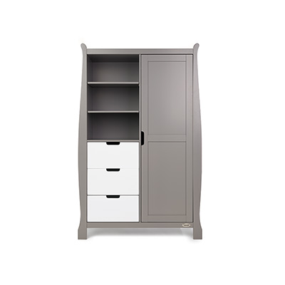 STAMFORD DOUBLE WARDROBE - TAUPE GREY with WHITE