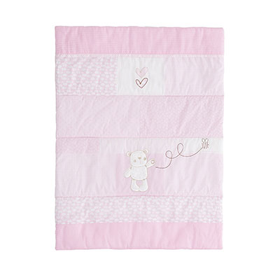 B IS FOR BEAR CRIB SET - PINK