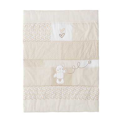 B IS FOR BEAR CRIB SET - CREAM