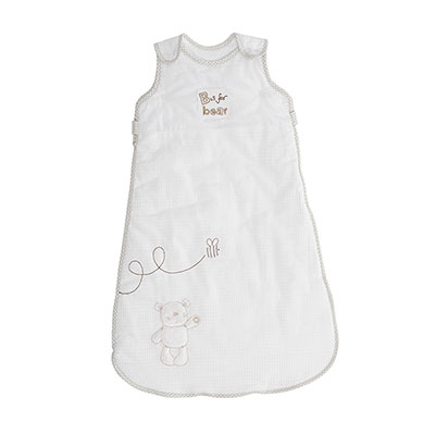 B IS FOR BEAR SLEEPING BAGS (6-18) - WHITE