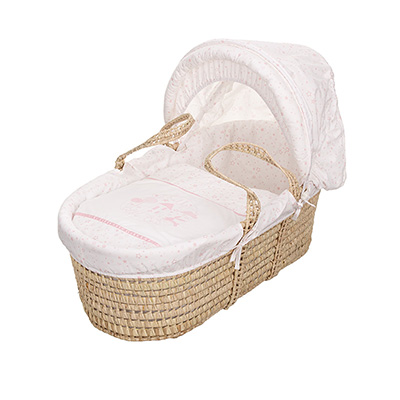 HELLO LITTLE ONE MOSES BASKET - PINK