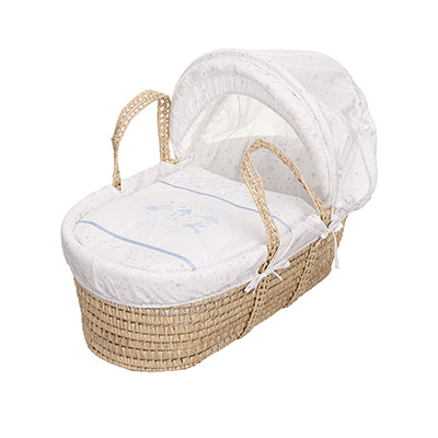 HELLO LITTLE ONE MOSES BASKET - BLUE