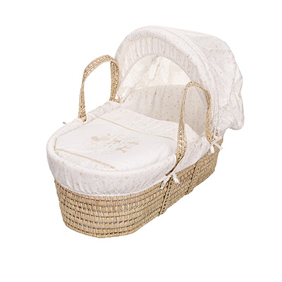 HELLO LITTLE ONE MOSES BASKET - CREAM
