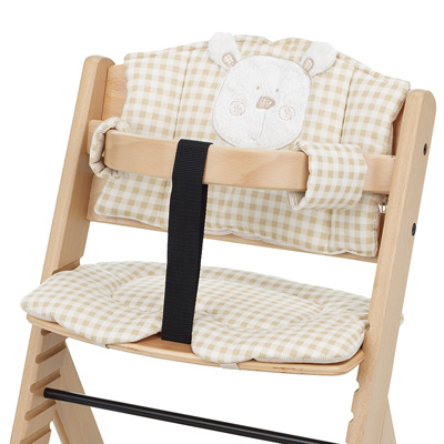 OBABY HIGHCHAIR B IS FOR BEAR PADDING - CREAM