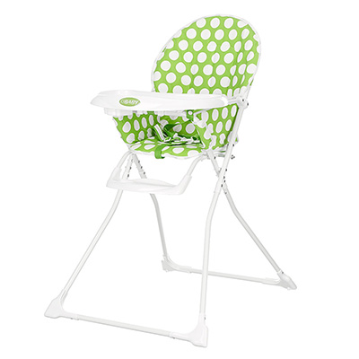 MUNCHY HIGHCHAIR - DOTTY LIME