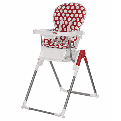 NANOFOLD HIGHCHAIR - DOTTY RED