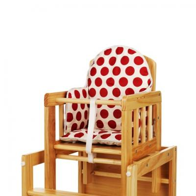 OBABY HIGHCHAIR INSERT - DOTTY RED