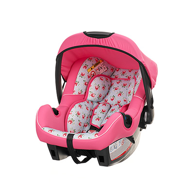 OBABY 0+ CAR SEAT - COTTAGE ROSE (With Chase Adaptors)