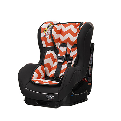 GROUP 0-1 COMBINATION CAR SEAT - ZIGZAG ORANGE