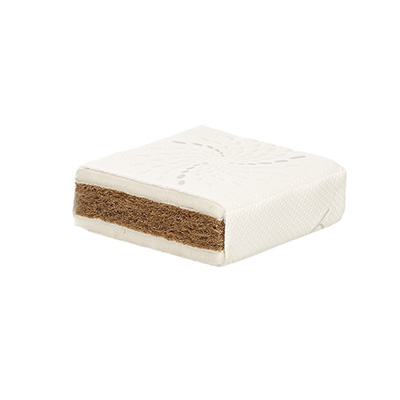 140 x 70cm NATURAL COIR/WOOL COT BED MATTRESS