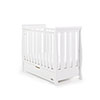 STAMFORD SPACE SAVER SLEIGH COT - WHITE (FREE SPRUNG MATTRESS)