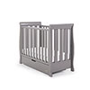 STAMFORD SPACE SAVER SLEIGH COT - TAUPE GREY (FREE SPRUNG MATTRESS)