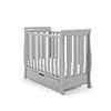 STAMFORD SPACE SAVER SLEIGH COT - WARM GREY (FREE SPRUNG MATTRESS)