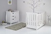 STAMFORD MINI COT BED 2 PIECE ROOM SET - WHITE